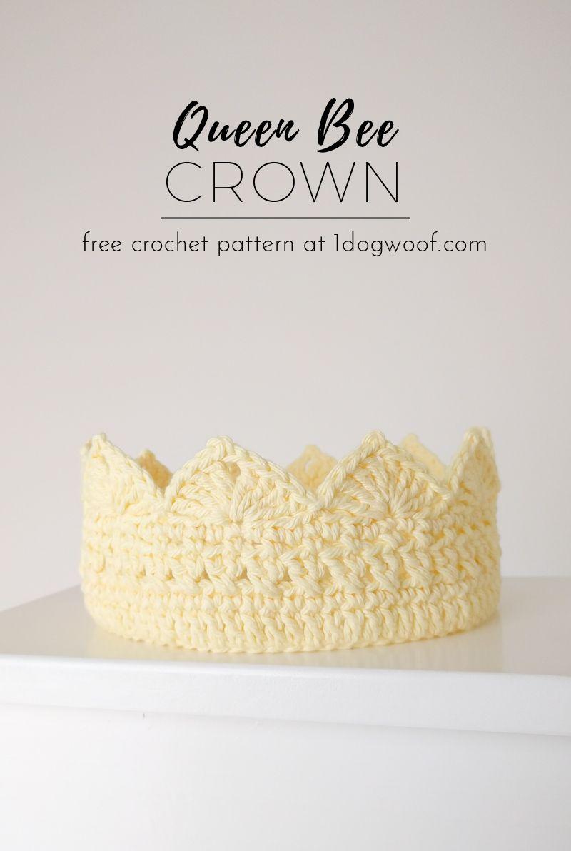 Queen Bee Adult Crochet Crown | Crochet crown, Queen bees and Free ...
