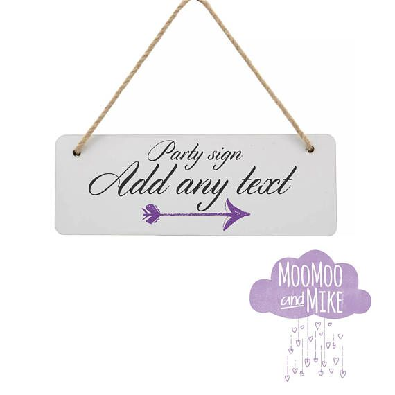 Personalised Hanging Wall Plaque Wedding Favour Sign Custom Wall Stunning Bedroom Wall Plaques