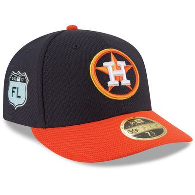 new product 5ff1b 73d6b Men s New Era Navy Houston Astros 2017 Spring Training Diamond Era Low  Profile 59FIFTY Fitted Hat
