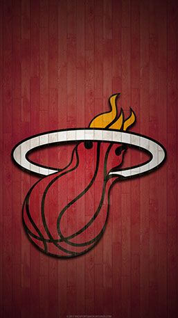 Miami Heat Mobile Hardwood Logo Wallpaper V1 Basketball Players Nba Miami Heat Nba Wallpapers