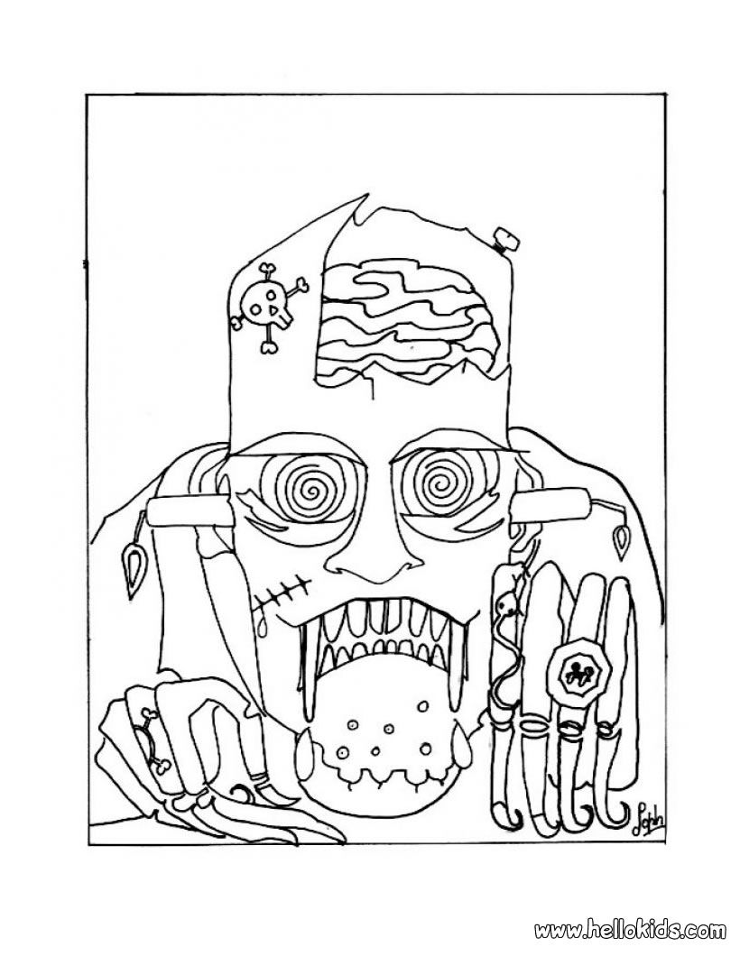 Scary Frankenstein Coloring Pages Monster Coloring Pages