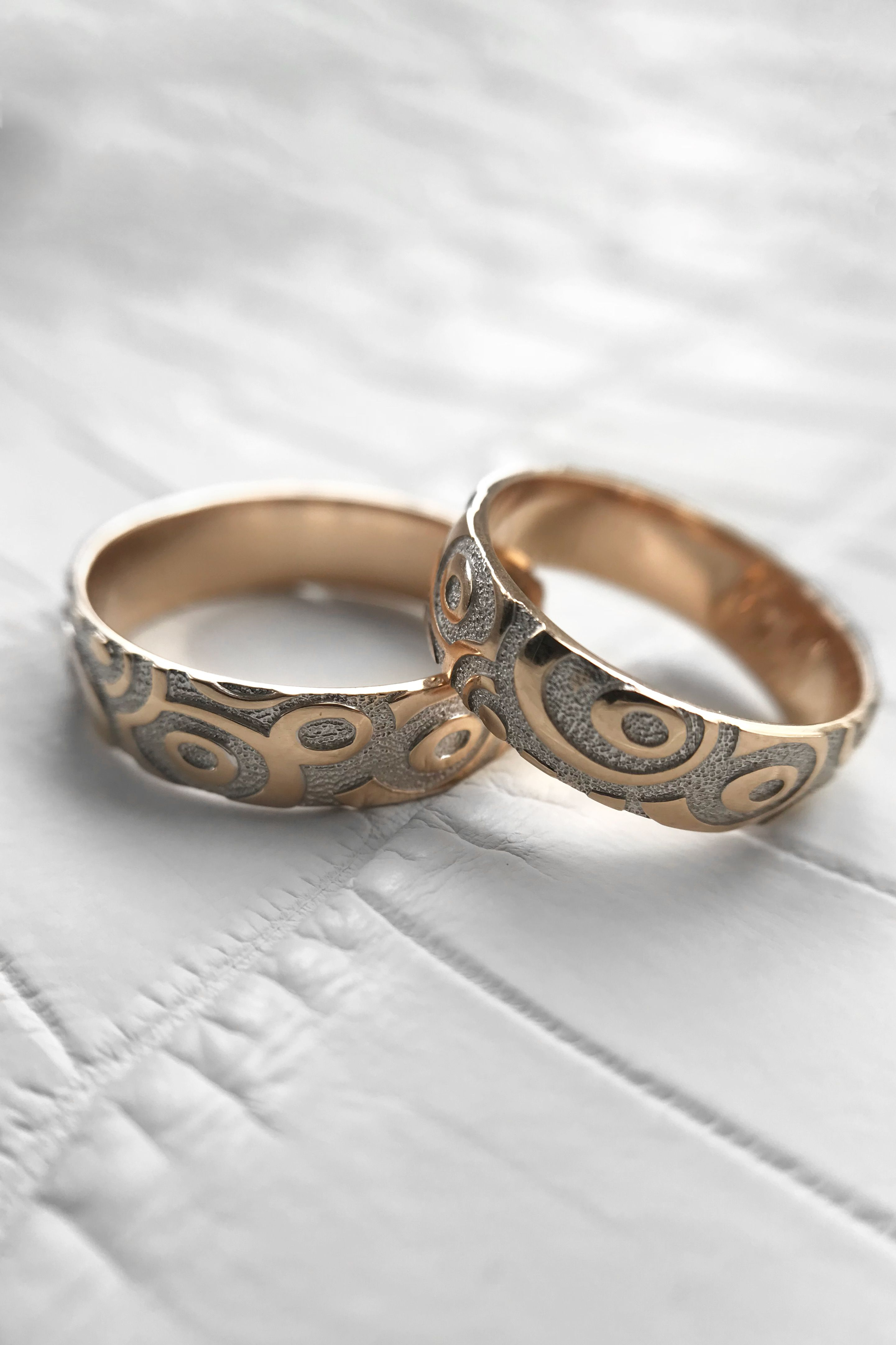 14k Gold Personalized Wedding Ring Set Unique Simple Wedding Band Set Engraved Pro Engraved Promise Rings Simple Wedding Band Sets Personalized Wedding Rings