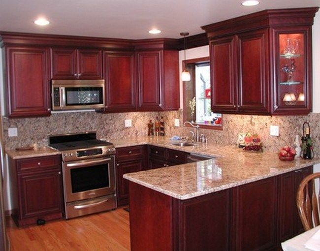 Red Kitchen Walls Cherry Cabinets Kitchen Colors Cherry ...
