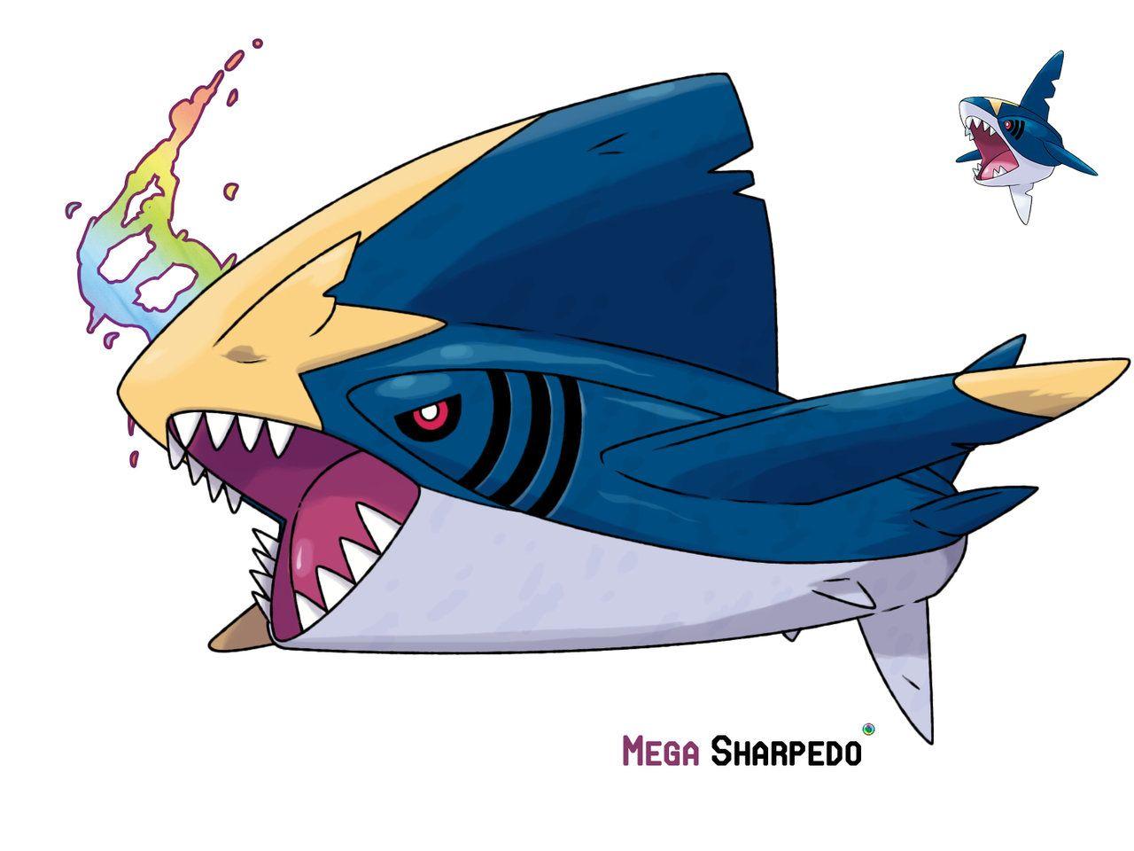 Mega Sharpedo By Leafyheart On Deviantart Pokemon Mega Evolution Art