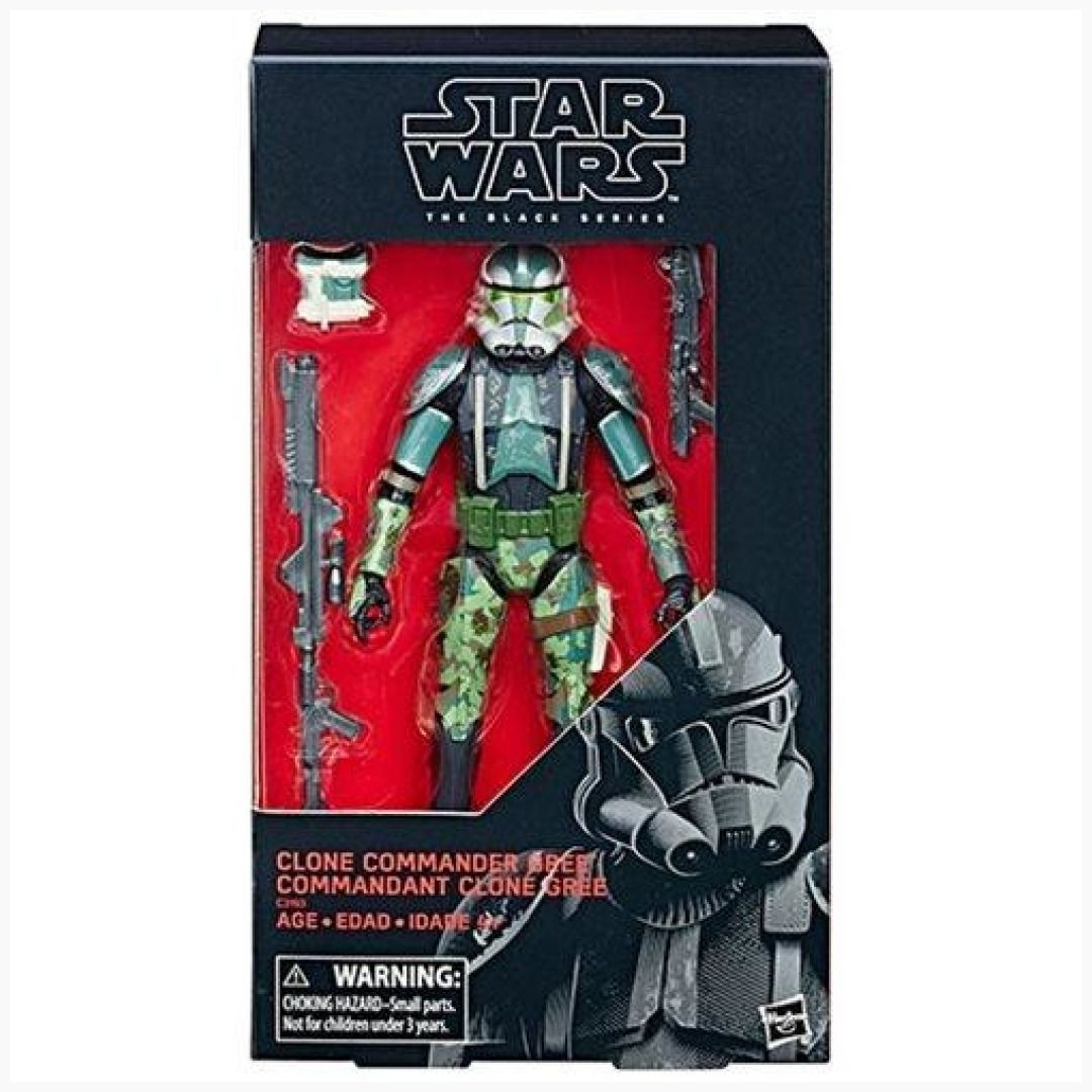 "Hasbro Star Wars Black Series Clone Commander Gree Exclusive 6/"" Clone Wars"