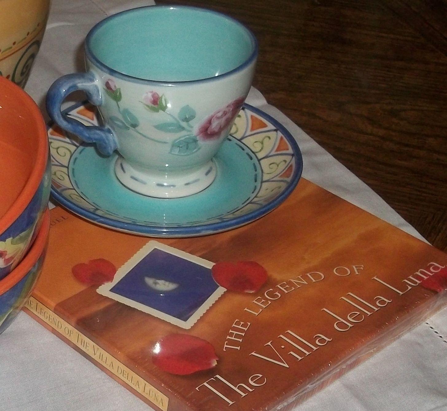 The Legend of The Villa Della Luna The Sequel to The Secrets of Pistoulet & Pfaltzgraff VILLA DELLA LUNA Tall Blue Pasta Jar | Pinterest ...