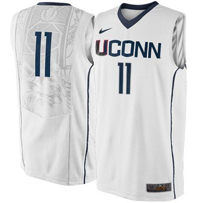 ea05c4043661 Nike UConn Huskies  11 Elite Replica Basketball Jersey - White ...