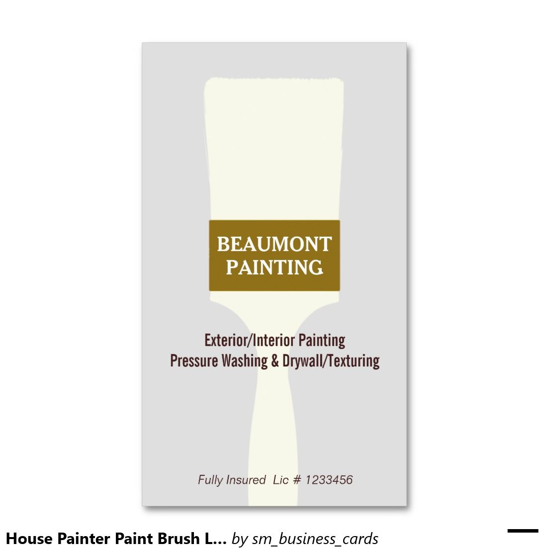 House Painter Paint Brush Logo 2 Business Card   House painter ...