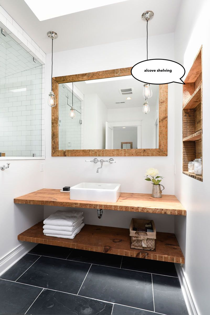 Alcove Shelving To Make The Most Of Your Skinny Bathroom Layout