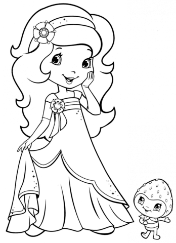 Orange Blossom And Berrykin Coloring Page Strawberry Shortcake Coloring Pages Strawberry Shortcake Cartoon Cartoon Coloring Pages