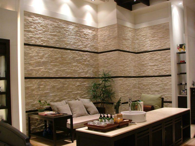 Steinoptik Wand  20 Erfinderische Ideen Wohnzimmer Pinterest   Wohnzimmer  Ideen Steinwand