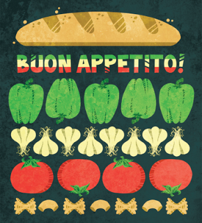 Chelsey Holeman's Illustration and Design: Buon Appetito!