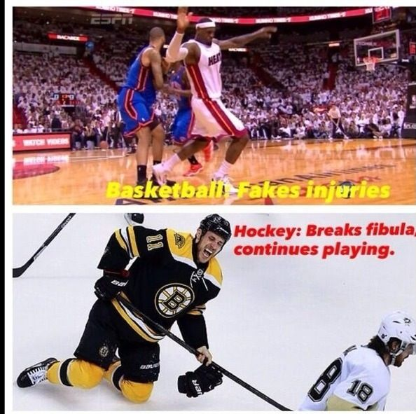 Hockey Injuries Vs Basketball Funny Hockey Memes Hockey Humor Hockey Memes