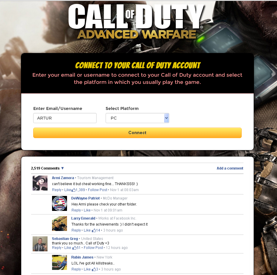 call of duty hacks xbox one
