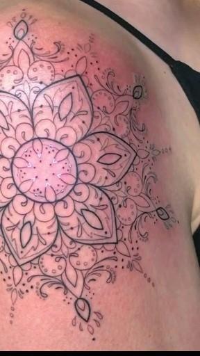 photochromic tattoo  Glowing tattoo.  Neon tattoo . Uv tattoo. Light up tattoo.
