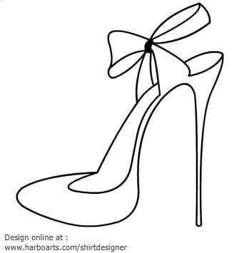 Molde De Tacon Zapatos Dibujos Bolsa Para Zapatos Como Dibujar