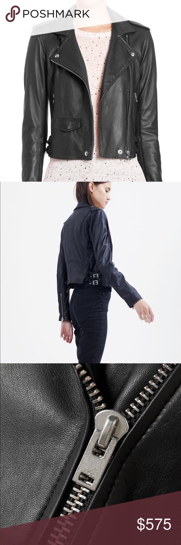 Iro Ashville Leather Jacket BLACK NWT 100 authentic New