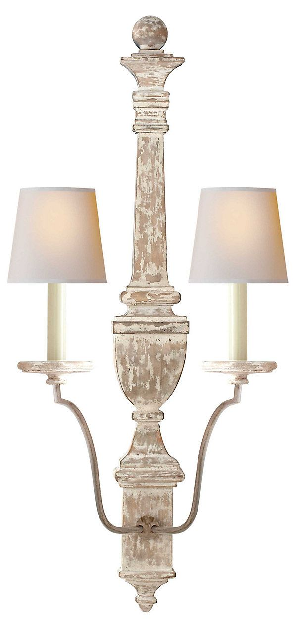 Gustavian 2 Light Wall Sconce, White | Illuminating Options | One Kings Lane