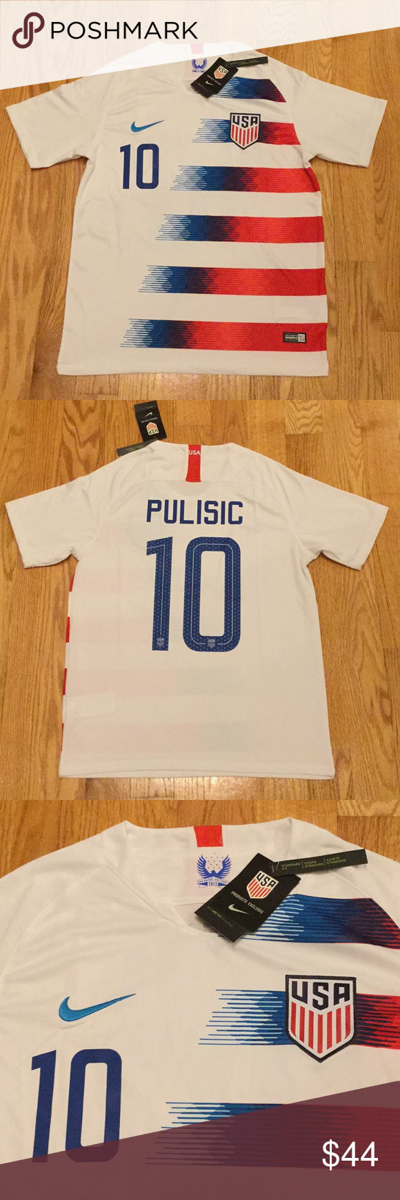 5dc3927ce 2018 USA Pulisic Soccer Jersey New with tags! Men s adult sizes ...