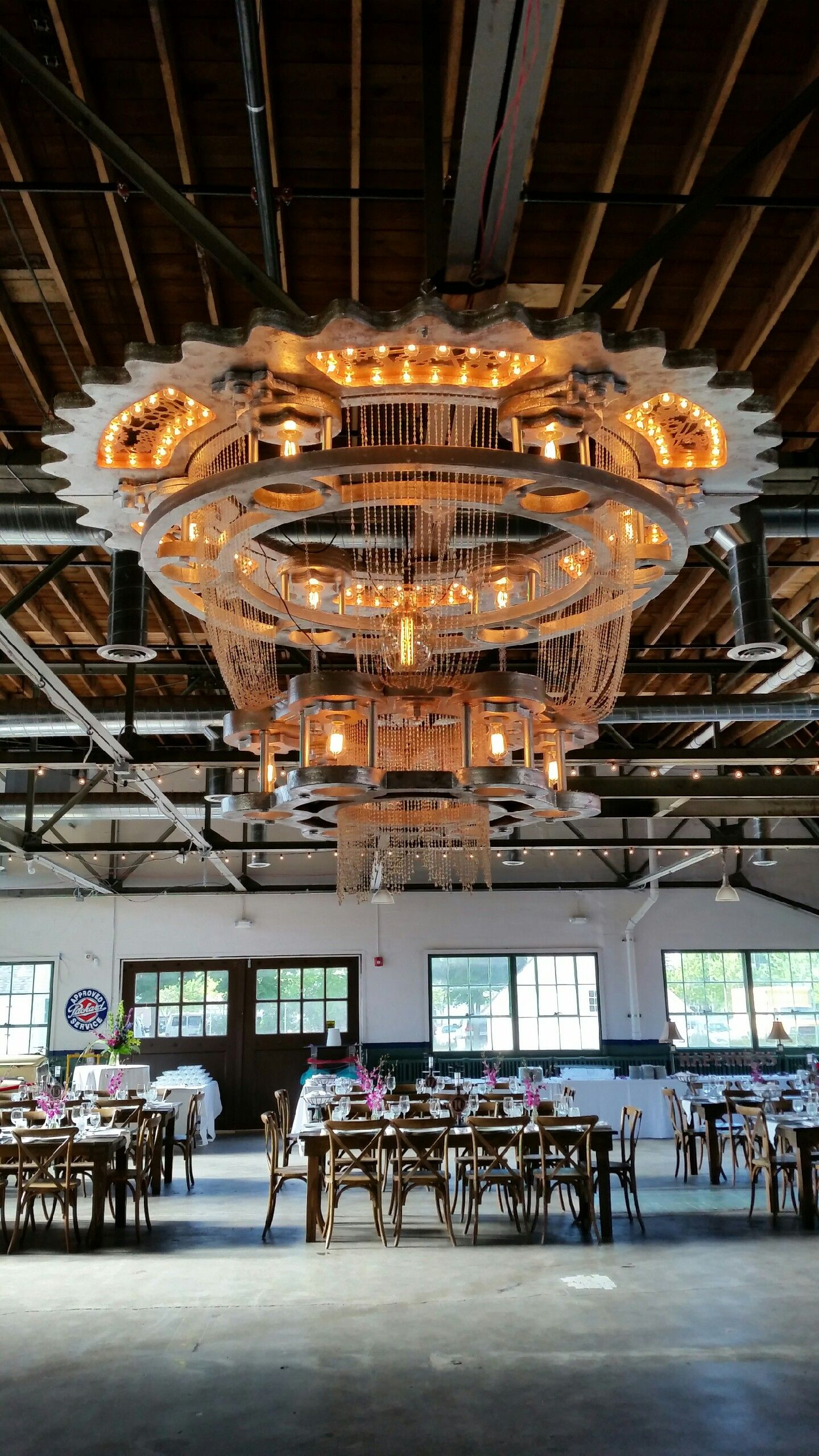 The Packard Chandelier created by Dan Rose you can rent this for