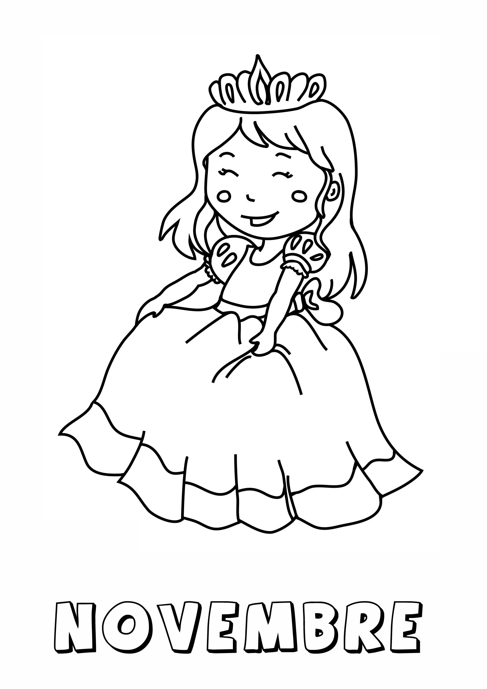 Coloriages de novembre ms gs 2013 2014 ch teau chevalier et princesses disney - Coloriage chateau de princesse ...