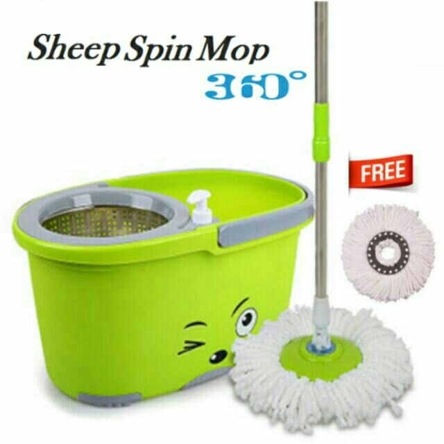 I'm selling Sheep Spin Mop With Spin Dry Bucket for RM59. Get it on Shopee now!https://shopee.com.my/kenn2769/270203683 #ShopeeMY