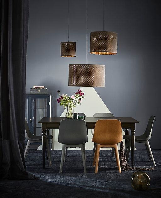 Living Room And Dining Room Together: IKEA Has Blue Dining Room Furniture Like Modern ODGER