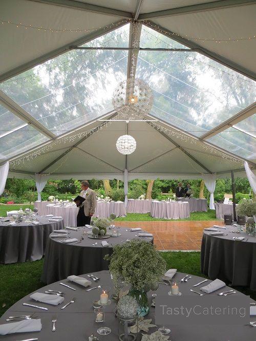 Outdoor Wedding Tent Rental With Clear Roof Summerweddingschicago