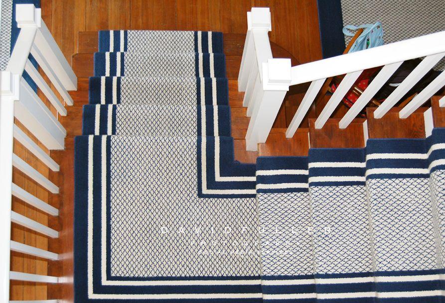 Best Navy Blue White Stair Runner Stair Runner Carpet Stairs 640 x 480