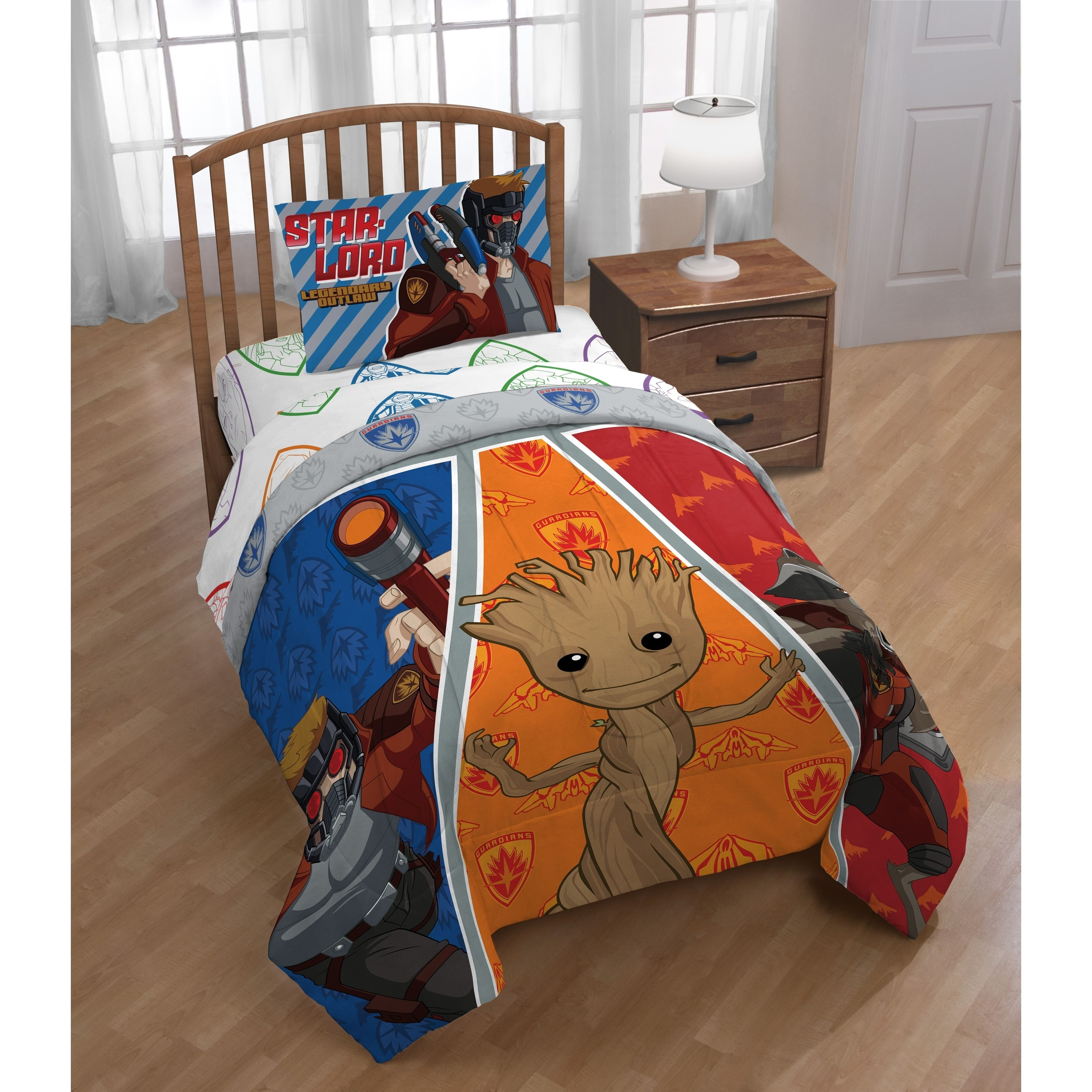 MARVEL Guardians of the Galaxy Reversible Comforter Twin size 4 pieces set sheet