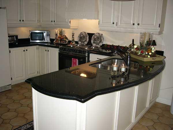 The Granite Gurus Slab Sunday Galaxy Black Granite Kitchen