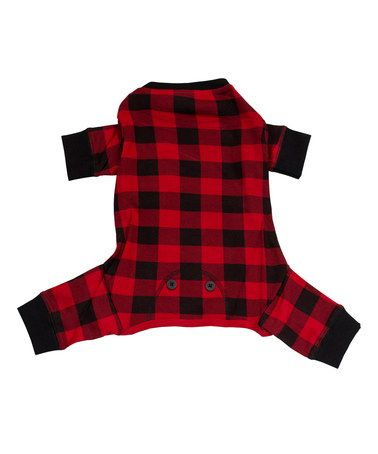 57f15595676 Look what I found on  zulily! Red   Black Buffalo Check Flapjack Dog ...
