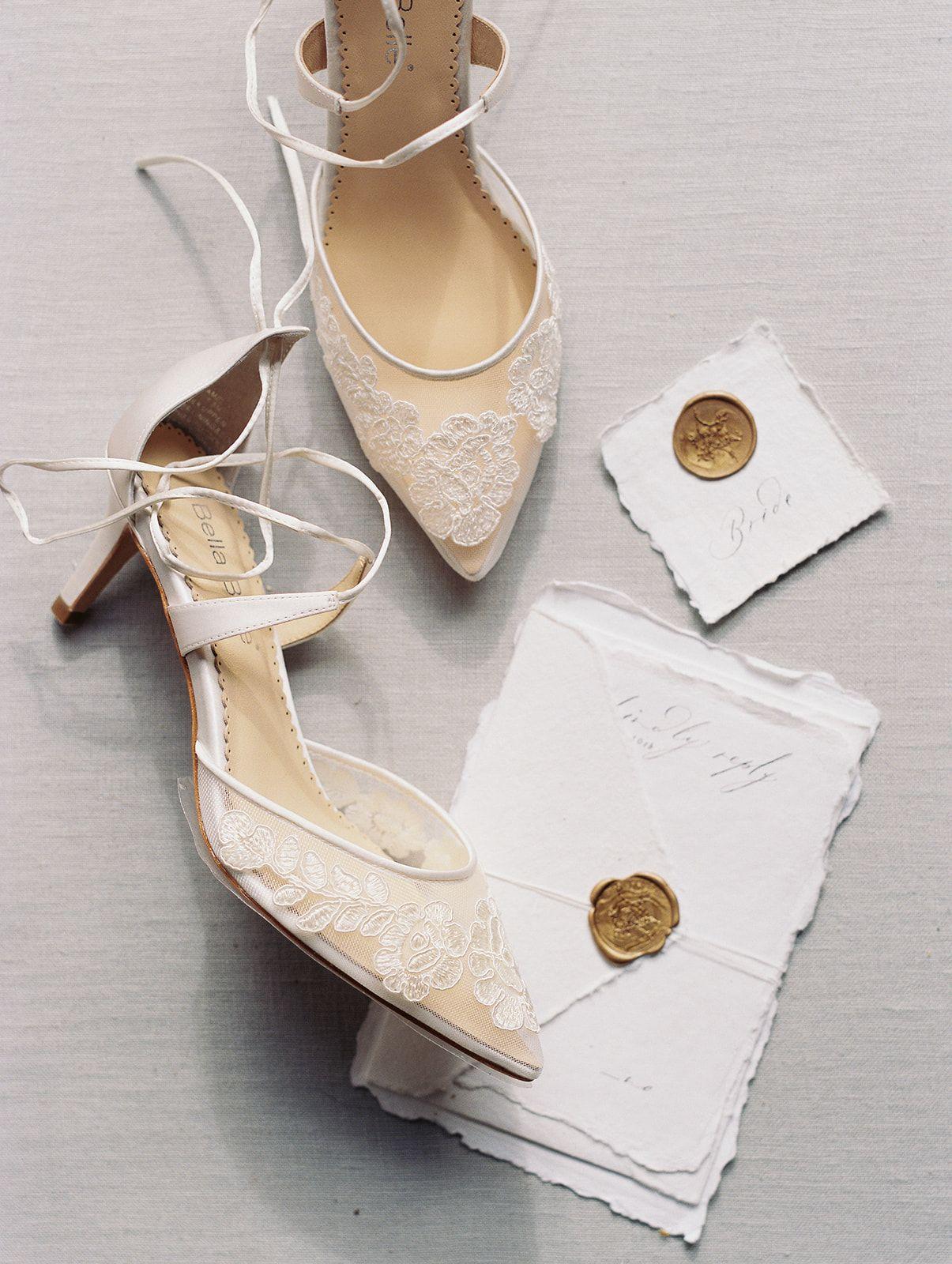 Kitten Heel Lace Wedding Shoes Wedding Heels Wedding Shoes