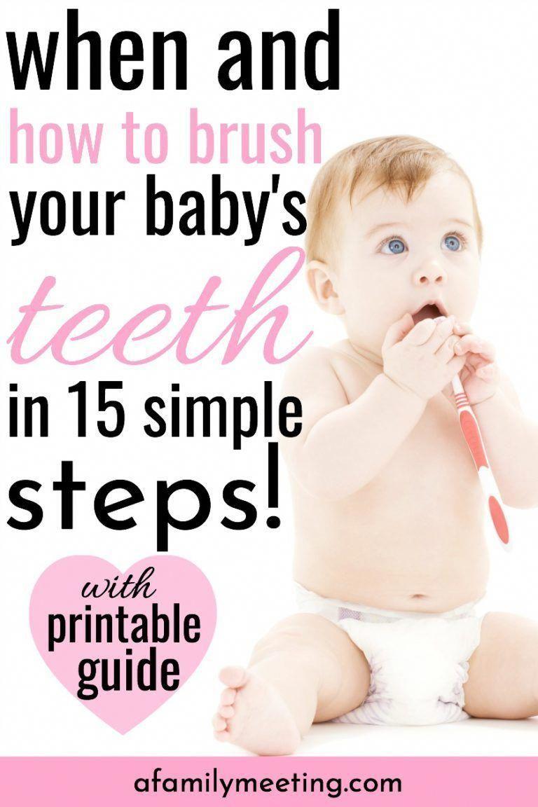 Cuando Las Mamás Deben Comenzar A Cepillar Los Dientes De Su Bebé Y Cómo Hacerlo Correctamente Deben Saberlo Brushing Baby Teeth Baby Teeth Oral Care Routine