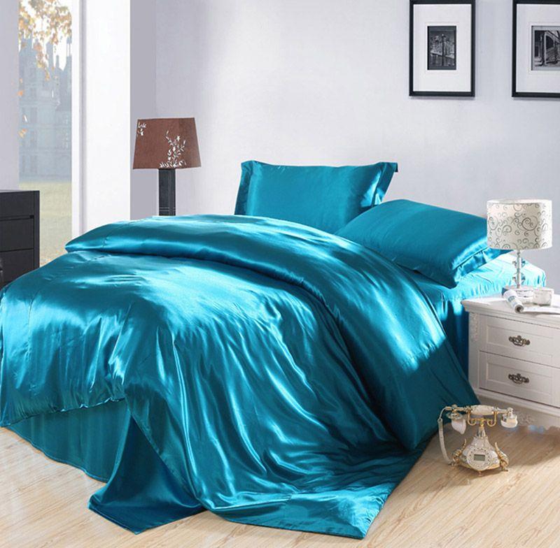 Duvet Cover Sets Silk Bedding, Luxury Lake House Bedding