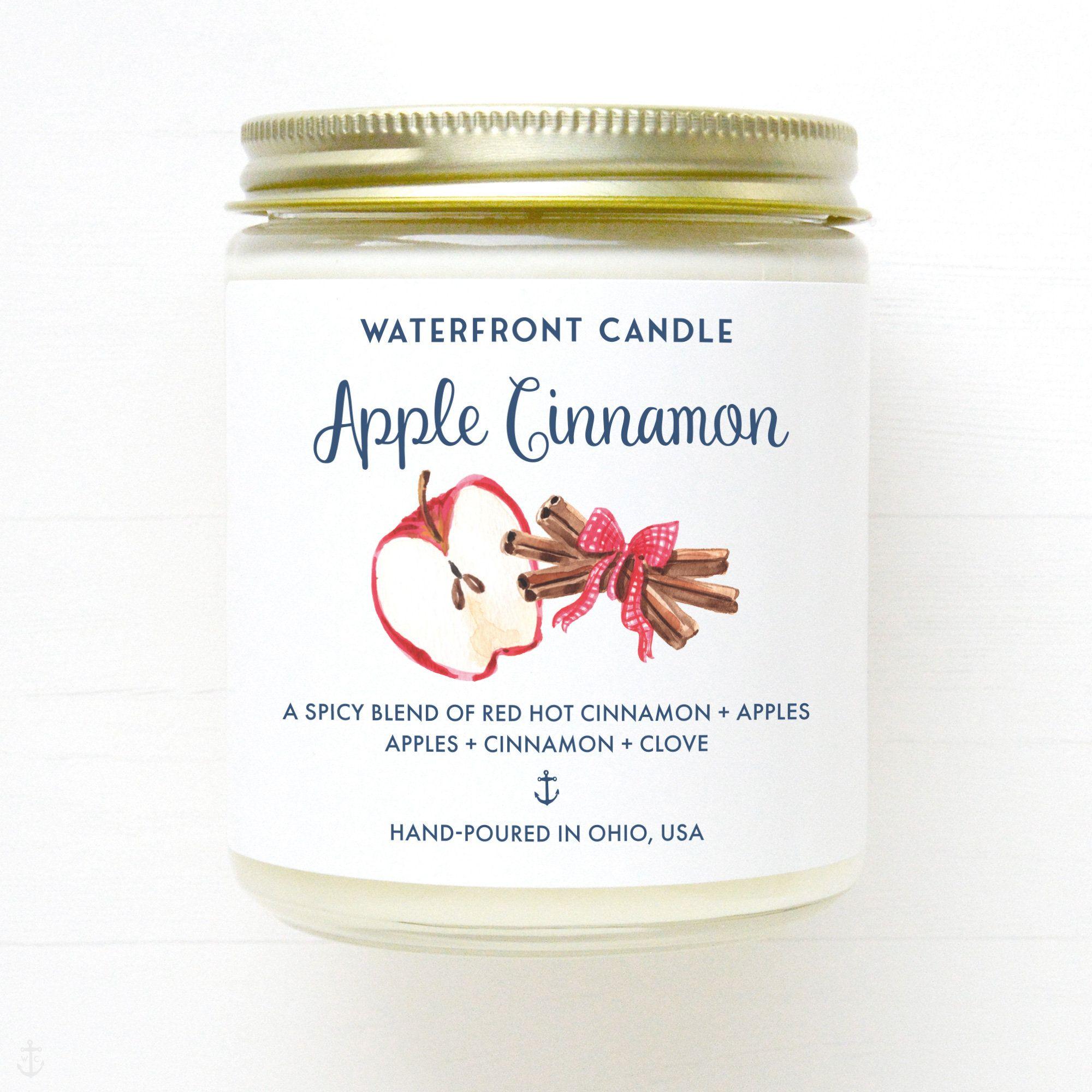 homemade soy candles Apple cinnamon