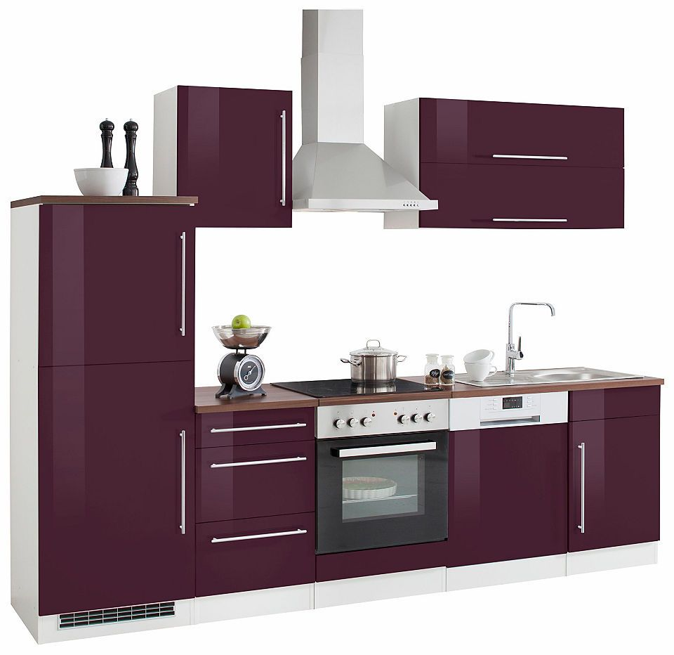 Held Möbel Küchenzeile mit EGeräten »Samos«, Breite 280