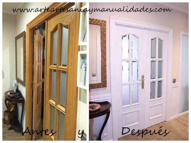 Arte artesania y manualidades lacado de puertas handmade for Restauracion de puertas antiguas