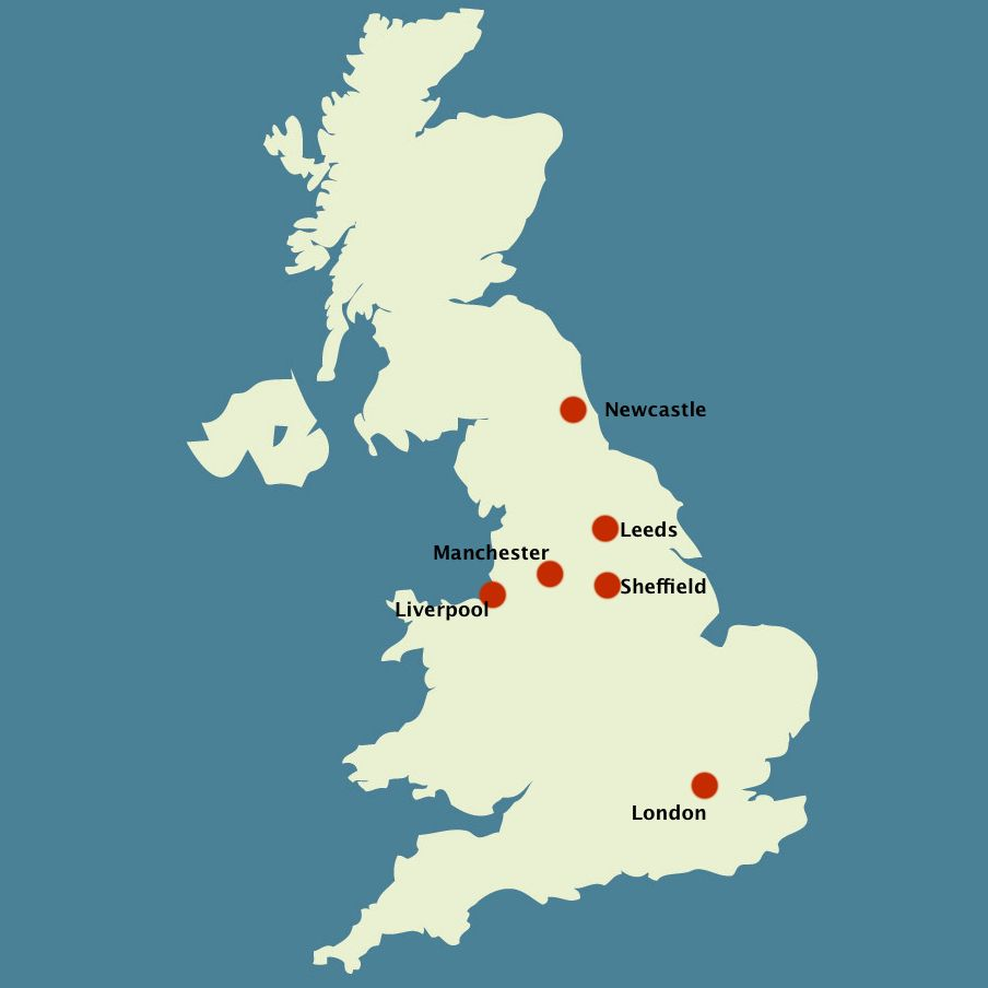 Download Map Uk Manchester | Major Tourist Attractions Maps | United Kingdom U00a3 British. | Pinterest