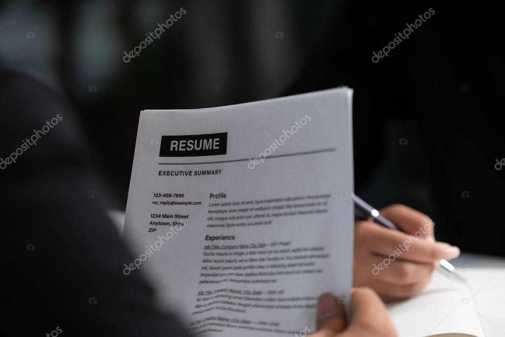 Human Resources Department Manager Reads Cv Resume Stock Photo Ad Department Manager Human Resources Ad Human Resources Resume Job Application