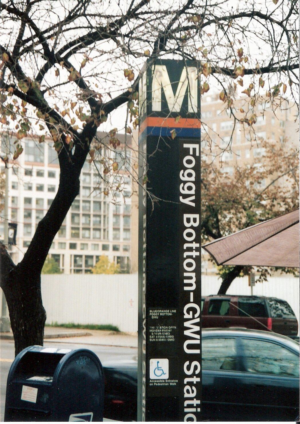 Washington dc metro foggy bottom sorry, that