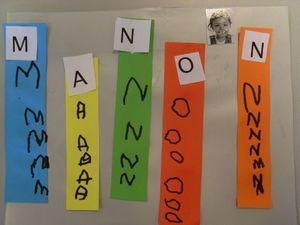 Fun way to practice names letter by letter