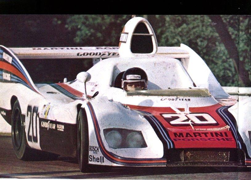 frenchcurious:  Jacky Ickx et Jis Van Lennep (Porsche 936) vainqueur des 24 Heures du Mans 1976 - sport-auto juillet 1976.
