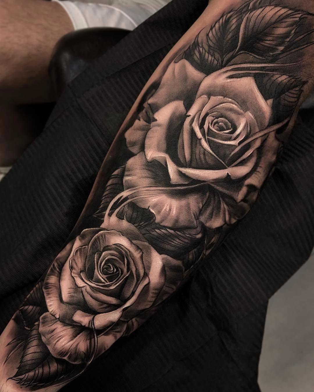 Shoulder Sleeve Rose Tattoos For Men Best Tattoo Ideas
