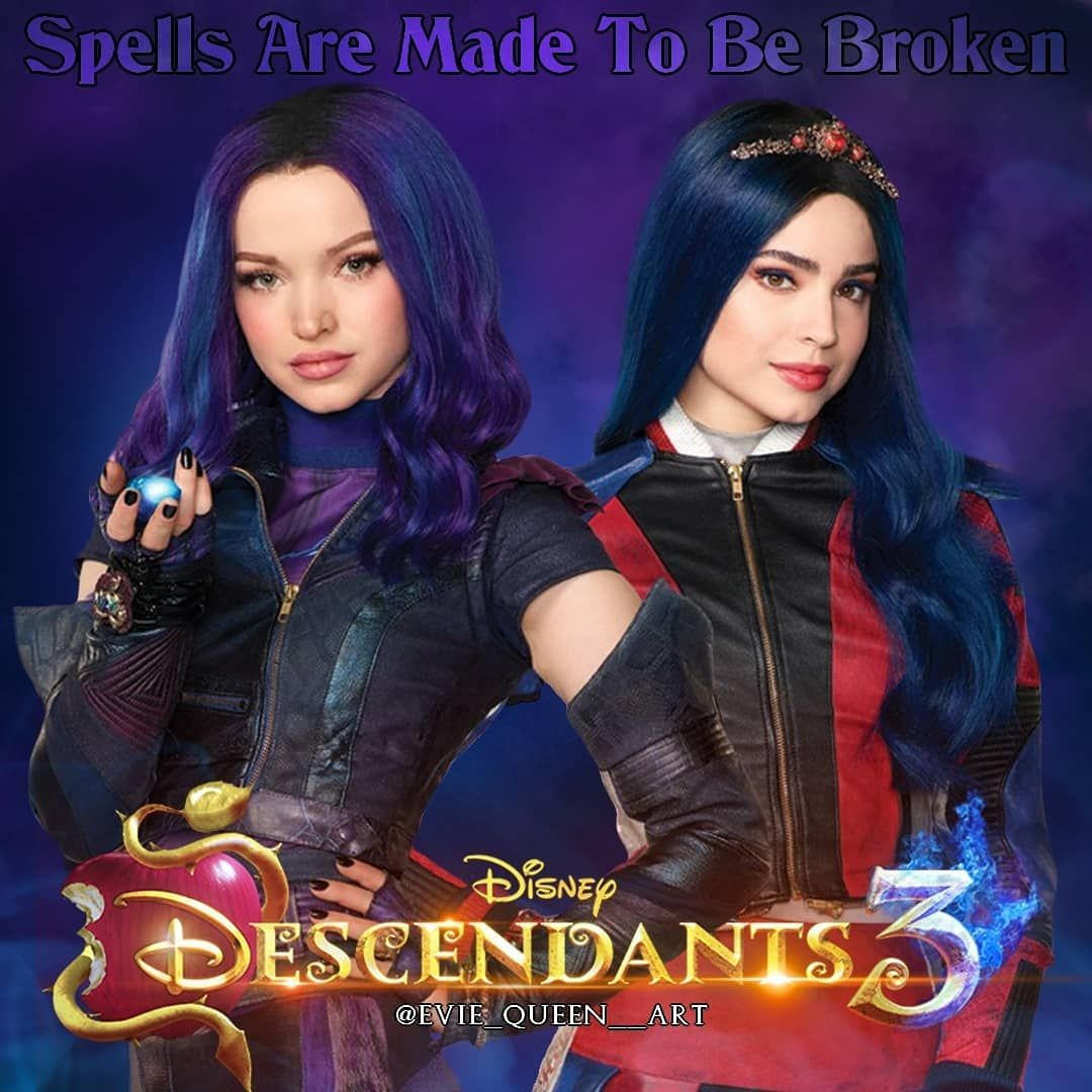 This Will Be The Last Poster This Week Because I M Really Upset Mal And Evie Have To Kiss In The Third Movie I Mal And Evie Disney Descendants Descendants