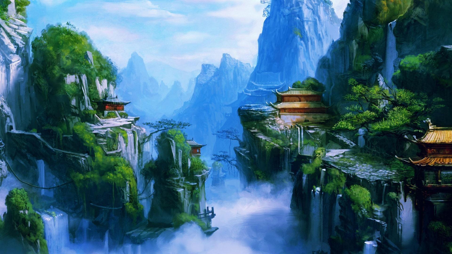 Anime Fantasy Landscape Wallpaper Full Hd For Free Wallpaper Hd Nature Wallpapers Best Nature Wallpapers Landscape Wallpaper