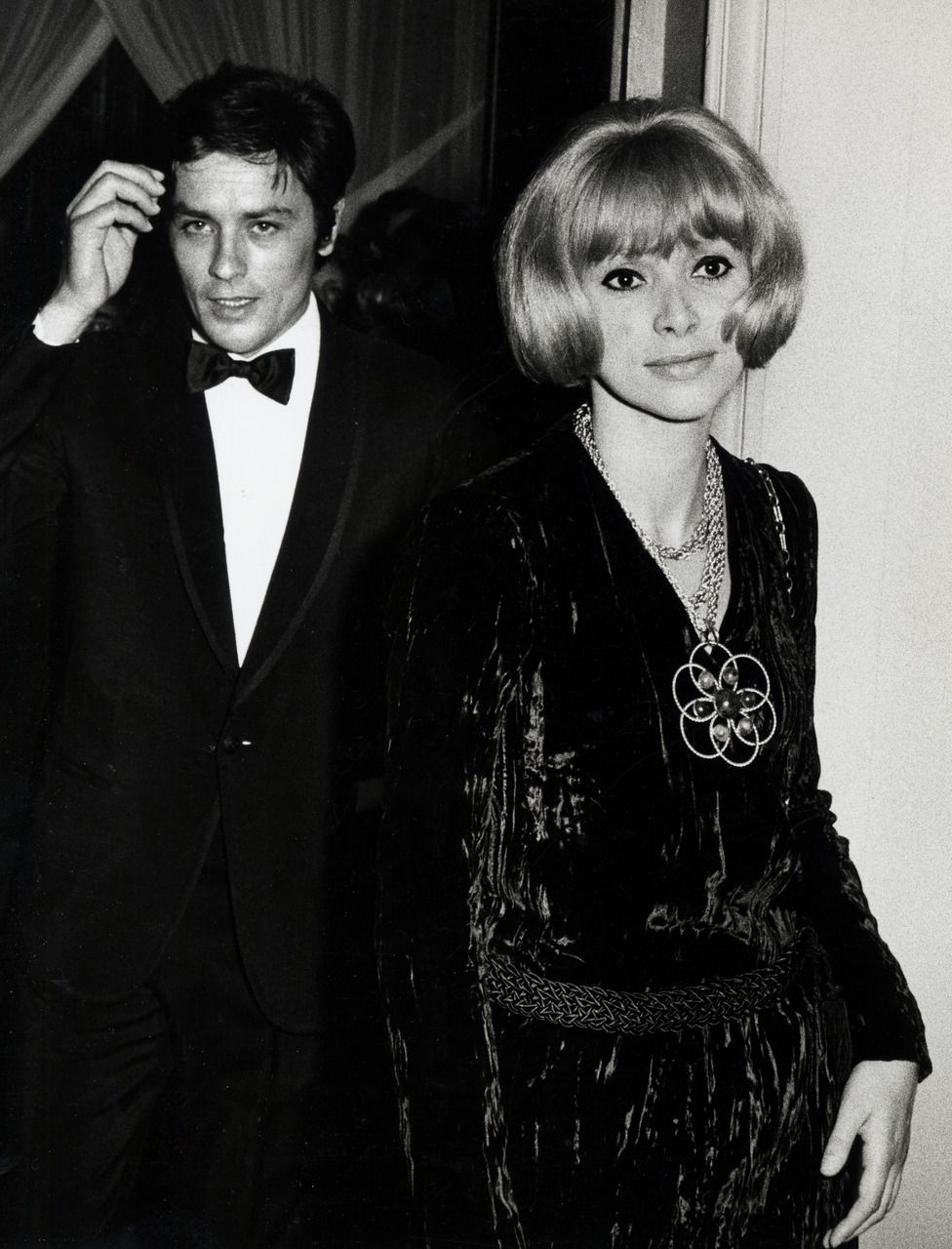 Alain Delon and Mireille Darc at the opera, 1970s | Delon, Alain delon, Anthony delon