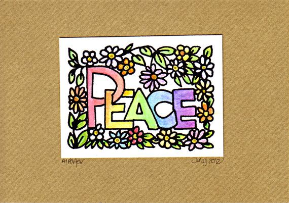 Beautiful Peace OOAK Greetings Card by Artwyrd on Etsy, $6.00