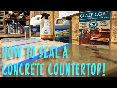 How To Seal A Concrete Counter Top Youtube Concrete