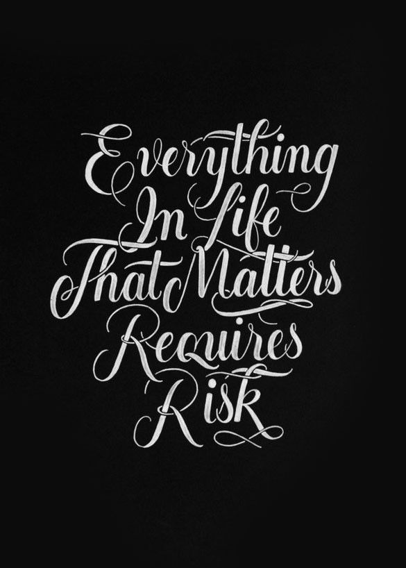 Risk Quotes Extraordinary 20 Stunning 'inspirational Quotes About Life' Typography Posters